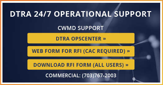 DTRA 24/7 Operational Support